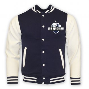 La Galaxy College Baseball Jacket (navy) - Kids