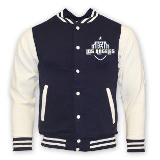 La Galaxy College Baseball Jacket (navy)