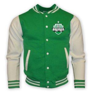 Werder Bremen College Baseball Jacket (green) - Kids