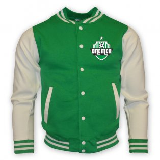 Werder Bremen College Baseball Jacket (green)