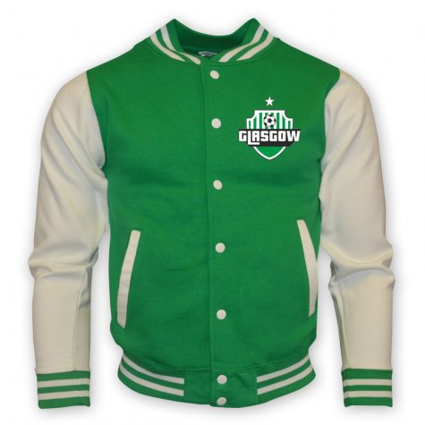 Celtic College Baseball Jacket (green)