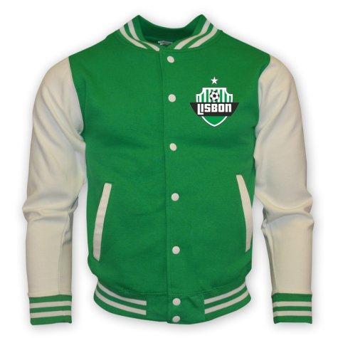 Sporting Lisbon College Baseball Jacket (green) - Kids