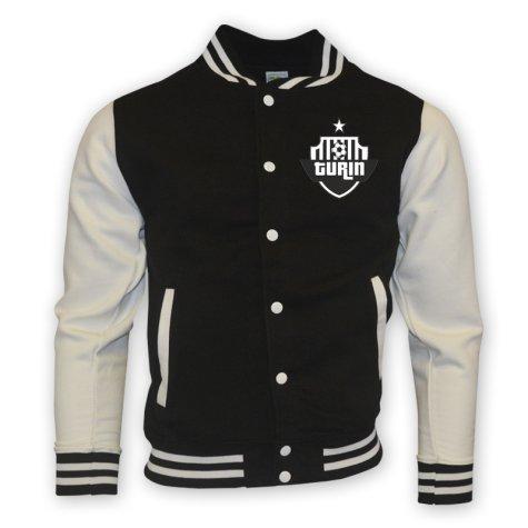 Juventus College Baseball Jacket (black) - Kids