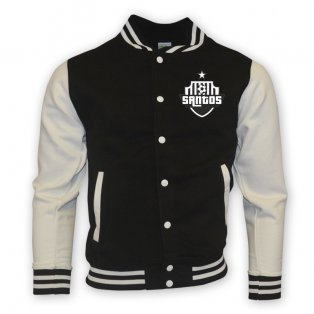 Santos College Baseball Jacket (black) - Kids