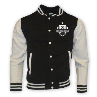 Real Madrid College Baseball Jacket (black)