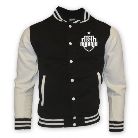 Real Madrid College Baseball Jacket (black) - Kids