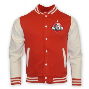 Wales College Baseball Jacket (red)