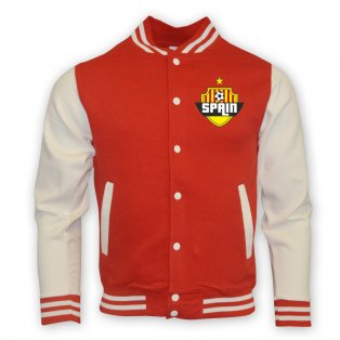 Spain College Baseball Jacket (red) - Kids