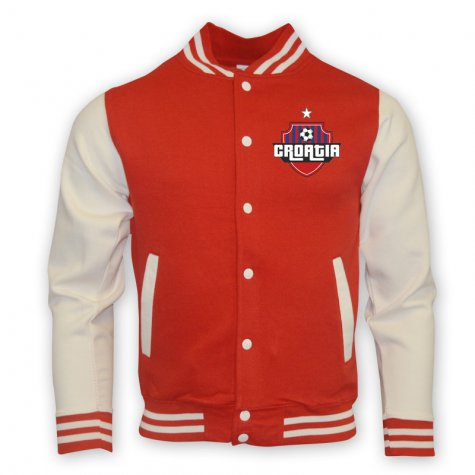 Croatia College Baseball Jacket (red)