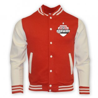 Norway College Baseball Jacket (red) - Kids