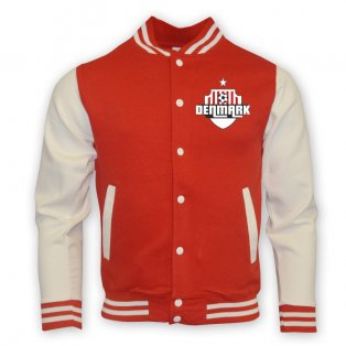 Denmark College Baseball Jacket (red) - Kids