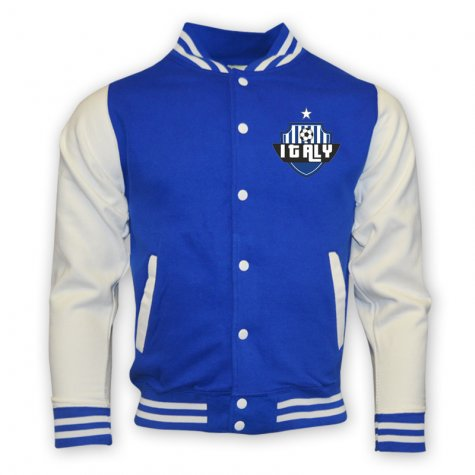 Italy College Baseball Jacket (blue)