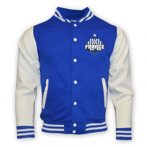 France College Baseball Jacket (blue) - Kids