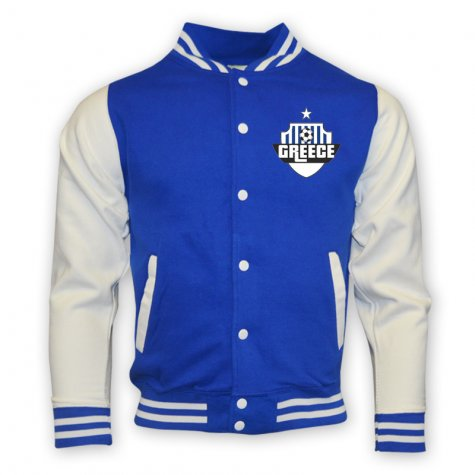 Greece College Baseball Jacket (blue)