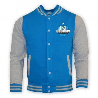 Uruguay College Baseball Jacket (sky Blue)