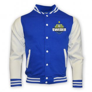 Sweden College Baseball Jacket (blue) - Kids