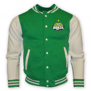 Brazil College Baseball Jacket (green) - Kids