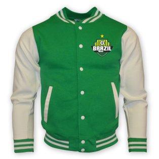 Brazil College Baseball Jacket (green)