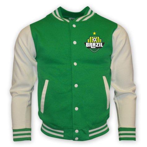 Brazil College Baseball Jacket (green) - Kids