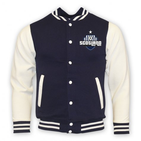Scotland College Baseball Jacket (navy)