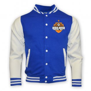 Holland College Baseball Jacket (blue) - Kids
