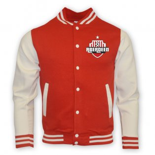Aberdeen College Baseball Jacket (red) - Kids