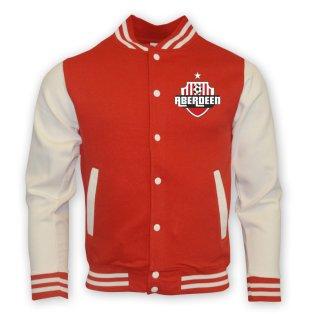 Aberdeen College Baseball Jacket (red)