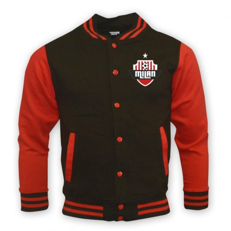 Ac Milan College Baseball Jacket (black)
