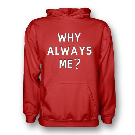 Mario Balotelli Why Always Me Hoody (red)