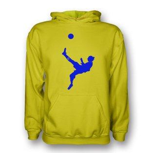Zlatan Ibrahimovic Bicycle Kick Hoody (yellow) - Kids