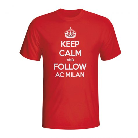Keep Calm And Follow Ac Milan T-shirt (red) - Kids