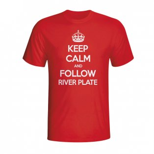 Keep Calm And Follow River Plate T-shirt (red) - Kids