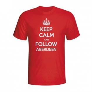 Keep Calm And Follow Aberdeen T-shirt (red) - Kids