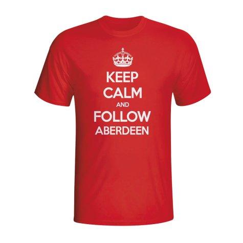 Keep Calm And Follow Aberdeen T-shirt (red)