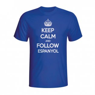 Keep Calm And Follow Espanyol T-shirt (blue) - Kids
