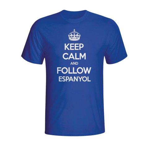 Keep Calm And Follow Espanyol T-shirt (blue) - Kids