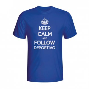 Keep Calm And Follow Deportivo T-shirt (blue) - Kids