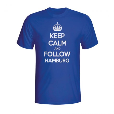 Keep Calm And Follow Hamburg T-shirt (blue) - Kids