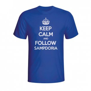 Keep Calm And Follow Sampdoria T-shirt (blue) - Kids