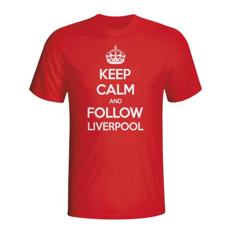 Keep Calm And Follow Liverpool T-shirt (red) - Kids