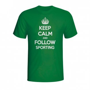 Keep Calm And Follow Sporting Lisbon T-shirt (green) - Kids