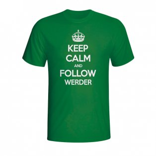 Keep Calm And Follow Werder Bremen T-shirt (green)