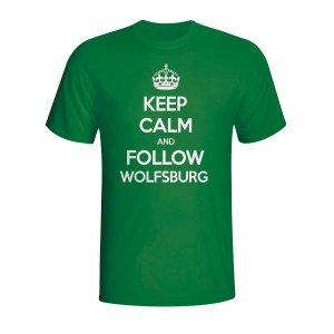 Keep Calm And Follow Wolfsburg T-shirt (green)