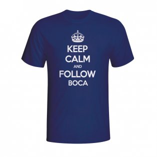Keep Calm And Follow Boca Juniors T-shirt (navy) - Kids