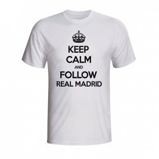 Keep Calm And Follow Real Madrid T-shirt (white) - Kids