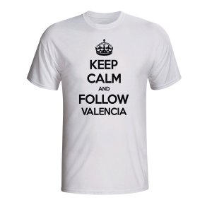 Keep Calm And Follow Valencia T-shirt (white) - Kids
