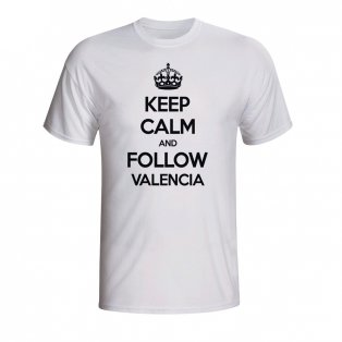 Keep Calm And Follow Valencia T-shirt (white) - Kids