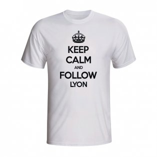 Keep Calm And Follow Lyon T-shirt (white) - Kids