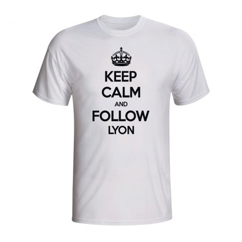 Keep Calm And Follow Lyon T-shirt (white) - Kids
