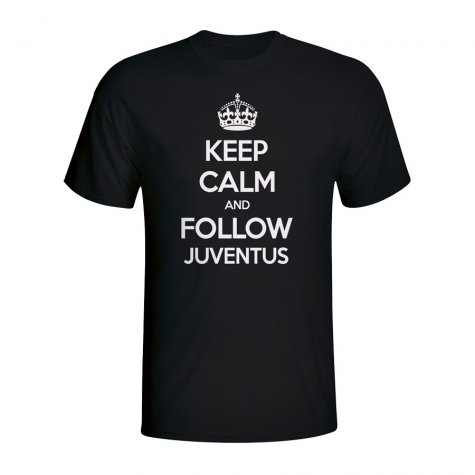 Keep Calm And Follow Juventus T-shirt (black)